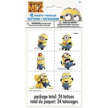 Despicable Me 2 Minions Party Favor Tattoo 24 Tattoos 4 sheets