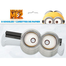 Despicable Me 2 Minions Party 8 Paper Googles Mask