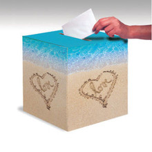 Beach Love Card Box Wedding Bridal Shower Luau Party