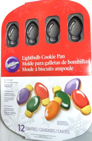 Wilton Light Bulb LightBulb Cookie Pan Non Stick 12 Cavity Christmas