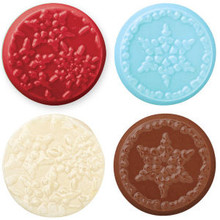 Wilton Candy Melts Cookie Mold Snowflake Deco 2 designs 8 pc Snow Flake Frozen