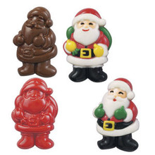 Wilton Candy Mold Santa Christmas Holiday Mould 2 designs 4 cavities