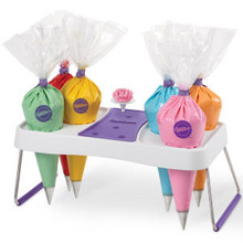 Wilton Decorating Bag Bags and Flower Nail Nails Holder