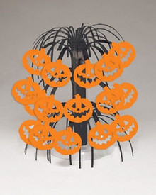 Pumpkin Mini Cascade Centerpiece Party Halloween 8.5""