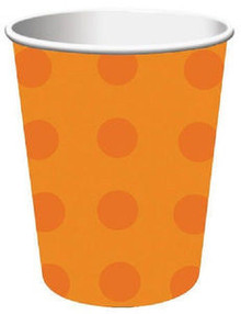 Halloween Orange Dots Paper Cup Cups 8 ct Party