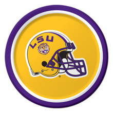 "LSU Tigers Paper 7"" Dessert Lunch Cake Plates 8 ct Tailgating Football Party"
