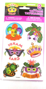 Mardi Gras Party Masquerade Carnival Temporary Tattoos Mask Tattoo