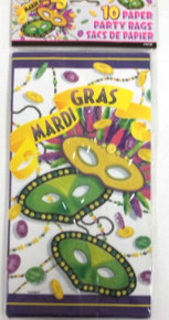 Mardi Gras Beads Party Celebration 10 Paper Party Loot Bags