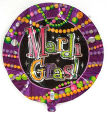 "Mardi Gras Beads Party Balloon 18"" Foil Mylar Decorations"