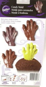 Wilton Candy Mold Zombie Ghost Creature Grave Hand 6 Cavity Halloween Day Dead