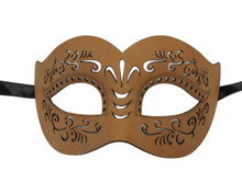 Leather Masquerade Mardi Gras Mask Tan Halloween Women