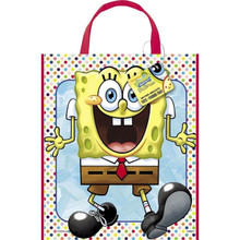 "Spongebob Squarepants Loot Favors Party Tote Bag 11"" x 13"""