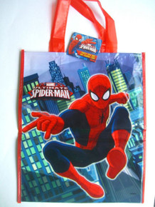 "Ultimate Spiderman Marvel Loot Favors Party Tote Bag 11"" x 13"""