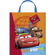 "Disney Cars II Loot Favors Party Tote Bag 11"" x 13"""