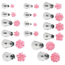 Wilton Drop Flower Decorating Tips LG XLG Sizes Cake Icing Decoration