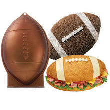 Wilton Football 1st First N 10 Mold 3D Cake Pan Rocket Shark Bread Easter Eggs