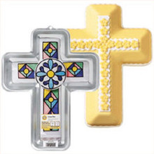 Wilton Cross Cake Pan Communion Baptism Confirmation Christening Easter Plane