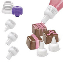 Wilton Candy Melts Decorating Decoration Tip Set 5 pc 3 tips coupler