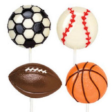 Wilton Candy Mold Sports Large Lollipop Mold Soccer baseball football basketball