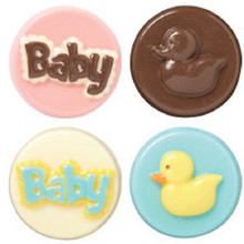 Wilton Candy Melts Cookie Mold Baby Shower Duck