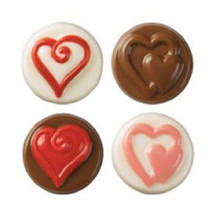 Wilton Candy Melts Cookie Mold Heart Valentines Anniversary Wedding Shower