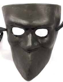 Black Paper Mache Bauta Masquerade Mardi Gras Mask Men