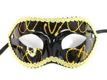 Black Gold Mardi Gras Masquerade Party Value Mask