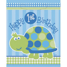 1st Birthday Blue Turtle Party 8 ct Loot Favor Bags
