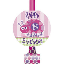 1st Birthday Ladybug Pink Party Supplies 8 ct Blowouts