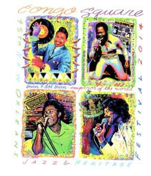 2014 Congo Square Ernie K-Doe New Orleans Jazz Fest Festival Poster Post Card