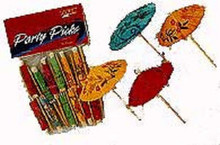 Luau Colorful Umbrella Cocktail Parasol Picks 10 ct Party Beverage