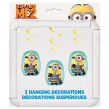 Despicable Me 2 Minions Party 3 Hanging Swirl Decorating Kit