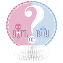 Gender Reveal Party Girl Boy ? Baby Shower 4 Honeycomb Centerpieces