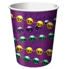 Rue Bourbon Mardi Gras Party New Orleans 9 oz Cups Hot cold 8 ct