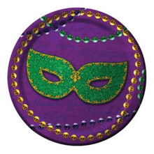 "Rue Bourbon Mardi Gras Plates Party Dessert 7"" 8 ct Decor"