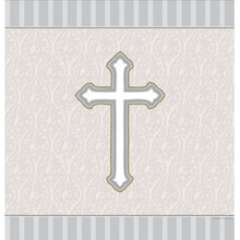 Devotion Cross Tablecover Christening Baptism Communion Confirmation Party