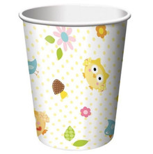 Happi Tree Baby Shower Sweet Baby Owl Decor 9 oz Paper Hot Cold Cups 8 ct