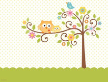 Happi Tree Baby Shower Sweet Owl Decor Table cover Tablecloth 54 x108