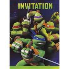 Teenage Mutant Ninja Turtles Invitations with Envelopes 8 ct Party TMNT