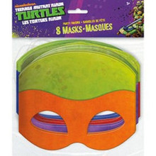 Teenage Mutant Ninja Turtles Masks 8 pack Favors Party TMNT