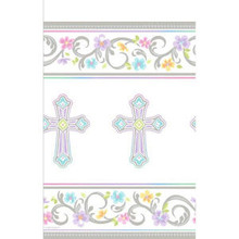 Blessed Day Cross TableCover 54 x 102 Christening Baptism Communion Confirmation