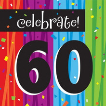60th Milestone Birthday Over Hill 60 16 Ct Luncheon Napkins