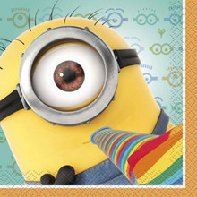 Despicable Me 2 Minions Birthday Party Beverage Napkins 16 ct Dave