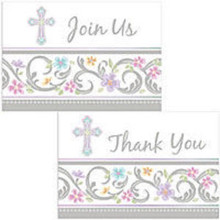 Blessed Day Invitations and Thank you set 8 Each Baptism Christening Party
