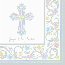 Blessed Day 36 Joyous Baptism Luncheon Value Pack Napkins