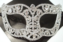 Wedding Crystal Bridal Rhinestone Laser Cut Venetian Masquerade Mask