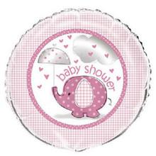 "Umbrella Elephant Pink Girl Baby Shower Party 1 18"" Mylar Foil Balloon"