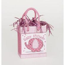 Umbrella Elephant Pink Girl Baby Shower Bag Balloon Weight