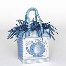 Umbrella Elephant Blue Boy Baby Shower Bag Balloon Weight