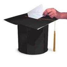 Large Black Mortarboad Cap Card Box 2014 Graduate Graduation With Tassel